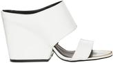 Calvin Klein Cali Platinum White Patent Sandal