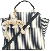 Zac Posen Eartha Iconic Convertible Striped Canvas Backpack