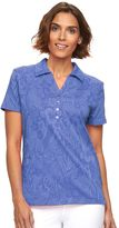 Caribbean Joe Women's Jacquard Polo