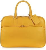 Giorgio Fedon Travel Yellow Leather Double Handle Carry-on