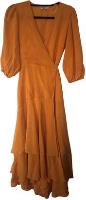 Ganni Spring Summer 2019 Orange Silk Dresses