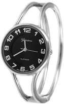 Silver Bin SilverBin Geneva Platinum Polished Bangle Women's Watch