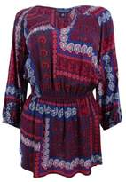 Tommy Hilfiger Women's Printed Split-Neck Tunic (S, Multi)