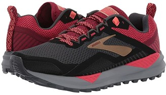 Brooks Cascadia 14 (Black/Rumba Red/Coral) Women's Running Shoes