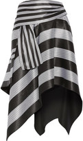 Proenza Schouler Asymmetric Striped Jacquard Skirt - Black