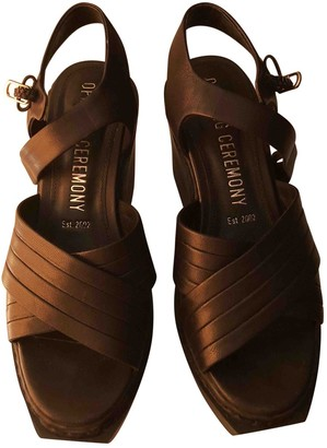 Opening Ceremony Black Leather Sandals