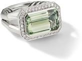 David Yurman Novella Sterling Silver, Prasiolite & Diamond Statement Ring
