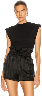 RtA Kairi Foam Sleeve T-Shirt in Black | FWRD