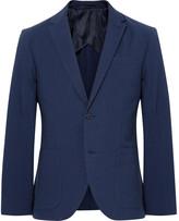 Club Monaco Blue Grant Slim-Fit Cotton-Seersucker Blazer