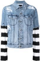 Loha Vete striped detail denim jacket