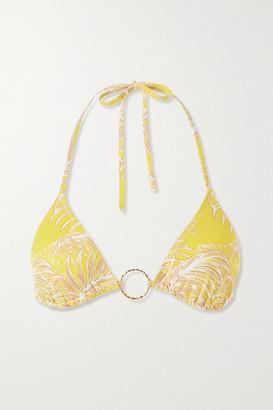 Melissa Odabash Miami Embellished Printed Triangle Bikini Top