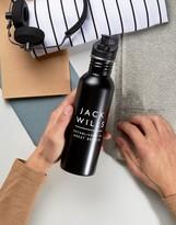 Jack Wills Metal Logo Water Bottle In Black