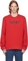 Raf Simons Red 'Wave' Sweatshirt