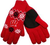 Adult Forever Collectibles Wisconsin Badgers Lodge Gloves