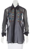 Dolce & Gabbana Embroidered Button-Up Blouse