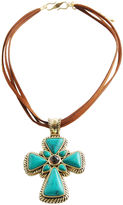 ARTSMITH BY BARSE Art Smith by BARSE Mixed Gemstone Cross Pendant Necklace