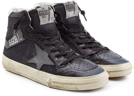 Golden Goose Slide Suede and Leather Sneakers