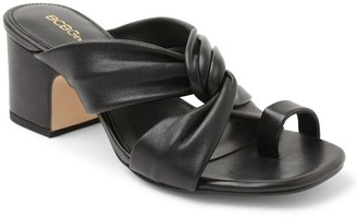 BCBGeneration Toe Thong Leather Slip-On Sandals- Dextar