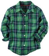 Carter's Plaid Button-Front Shirt