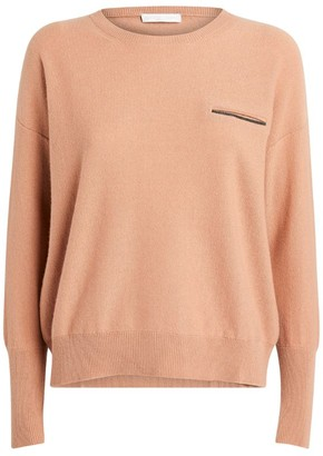 Fabiana Filippi Embellished-Pocket Sweater