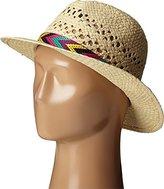 Neff Women's Emma Wide Brim Straw Panama Hat