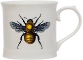 Magpie Curios Bee Mug, White/Multi, 378ml