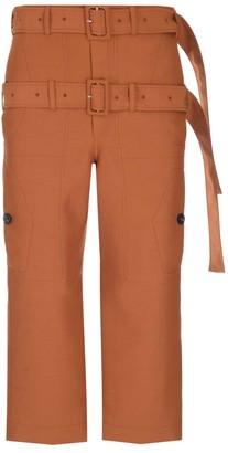 Lanvin Double Belt Cropped Pants