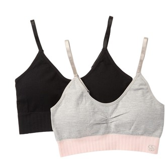 Jessica Simpson Seamless Ribbed Cami Bralette - Pack of 2