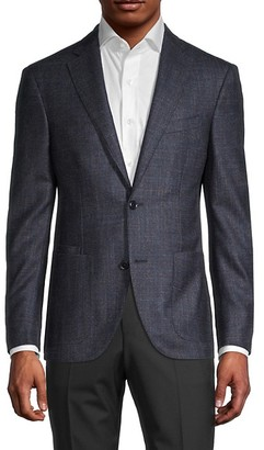 Luciano Barbera Standard-Fit Wool, Silk & Cashmere Sportcoat