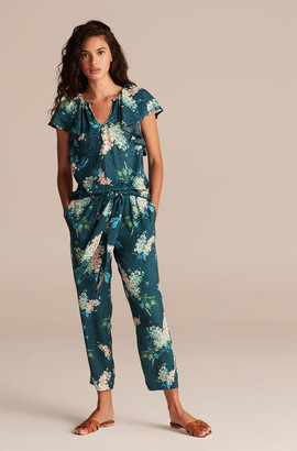 Rebecca Taylor Hydrangea Floral Tie Waist Pant