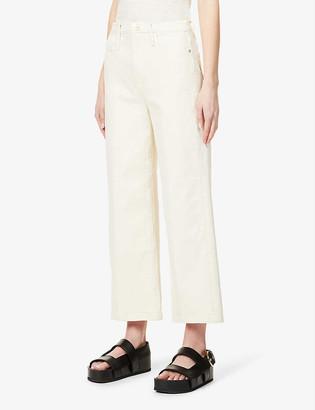 Frame Ali wide-leg high-rise stretch-denim jeans