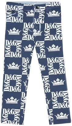 Dolce & Gabbana Kids Logo stretch-cotton skinny jeans