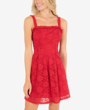 Speechless Juniors' Lace A-Line Dress