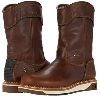 Georgia Boot AMP LT Wedge Waterproof 11 Pull-On Soft Toe (Brown) Men's Boots