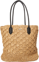 Rusty Aloha Straw Beach Bag Natural