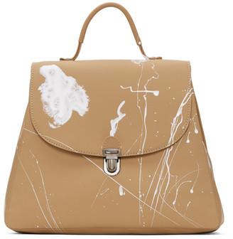 Cherevichkiotvichki Tan Small Splatter Lock Bag