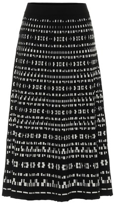 S Max Mara Pesche patterned midi skirt