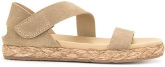 Pedro Garcia Open-Toe Raffia-Sole Sandals