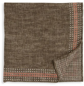 Brunello Cucinelli Bird's-Eye Print Pocket Square