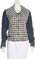 Dolce & Gabbana Tweed Denim Jacket w/ Tags