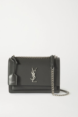 Saint Laurent Sunset Medium Leather Shoulder Bag - Dark gray