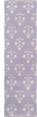 "Momeni Thompson Grove Handwoven Flatweave Wool Purple Area Rug Erin Gates by Rug Size: Runner 2'3"" x 8'"