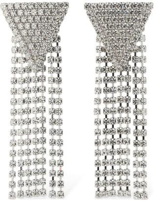 Alessandra Rich Triangle & Cascade Clip-on Earrings