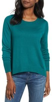 Halogen Women's Woven Back Sweater