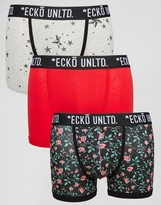Ecko 3 Pack Printed Trunks