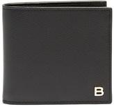 Balenciaga Logo-plaque bi-fold leather wallet