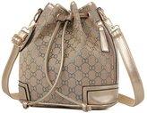 Ceyue Classic British Style Fashion Handbag Drawstring Bucket Shoulder Bag For Womens