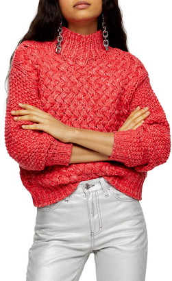 Topshop Twisted Hand Knit Sweater