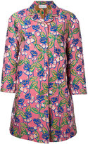 RED Valentino floral print midi coat - women - Polyester - 38