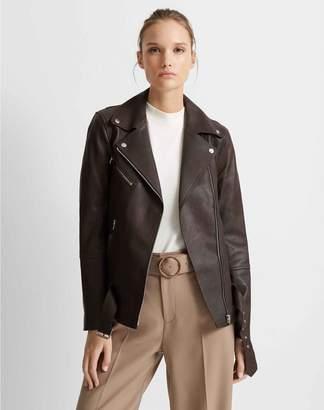 Club Monaco Long Leather Jacket